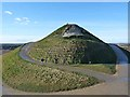 NZ2377 : Right up your nose, Northumberlandia by Oliver Dixon