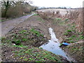 SY8593 : Recent Drainage Work on Spears Lane by Nigel Mykura