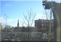 TQ3572 : View from the train approaching Forest Hill station by Christopher Hilton