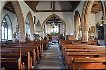 TQ7444 : Interior, St Michael's church, Marden by Julian P Guffogg