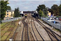 SP5006 : Oxford Station from Osney Lane footbridge by Steve Daniels