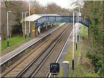 TQ1070 : Kempton Park station, seen from the Park Road bridge by Stefan Czapski