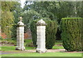SJ4918 : Gate Posts at Albrighton Hall (Mercure Hotel), Ellesmere Road, Shropshire - 3 by Terry Robinson