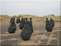 NZ3668 : The Conversation Piece Sculptures, South Shields by Ian S