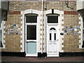 SX9472 : Front doors, nos.2 and 3, Bath Terrace by Robin Stott
