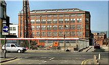 "J3373 : The ""Albion"" factory, Belfast (1990) by Albert Bridge"