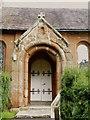 SJ4918 : Front Door, St John the Baptist Church, Ellesmere Road, Albrighton, near Shrewsbury, Shropshire by Terry Robinson