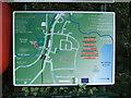 TG2917 : Information board near Caen Meadow by Barbara Carr
