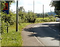 SO3204 : A bend in the A4042 SW of Penperlleni by Jaggery