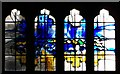 TQ1906 : Huddleston window, Lancing College Chapel by nick macneill