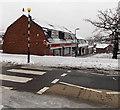 ST3091 : Snowy Larch Grove shops, Malpas, Newport by Jaggery