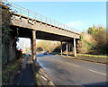 ST3286 : Fluted columns support a Corporation Road railway bridge, Newport by Jaggery
