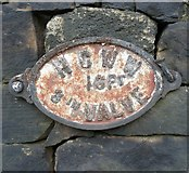 SE0724 : Old water main valve marker plate, Burnley Road by Humphrey Bolton