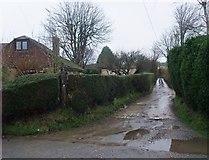 SY4797 : Start of Bridleway at Oxbridge by Tim Heaton