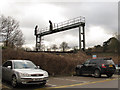 TQ3060 : Signal gantry south of Purley by Stephen Craven