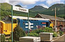 NN3825 : Class 37 Diesel on Up train at Crianlarich, 1986 by Ben Brooksbank