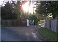 TM4262 : The entrance to Knodishall Lodge by Adrian Cable