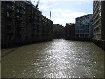 TQ3379 : St Saviour's Dock, Bermondsey by David Purchase
