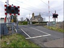 NU0937 : Level crossing near Smeafield by Russel Wills