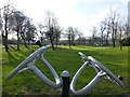H4573 : Outdoor gym equipment, Omagh by Kenneth  Allen