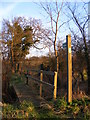 TM4262 : Footpath to Church Road by Adrian Cable