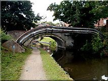 SO8276 : North side of Caldwall Mill canal bridge, Kidderminster by Jaggery
