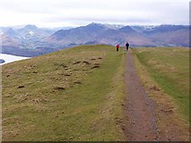 NY2724 : Path approaching the summit of Latrigg by Oliver Dixon
