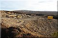 NJ0745 : Borrow pit, Carn Ghiubhais by Dorothy Carse