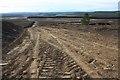 NJ0745 : Windfarm road under construction by Dorothy Carse