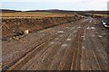 NJ0545 : Windfarm road near Berryburn by Dorothy Carse