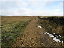 SE1443 : Footpath leading onto Hawksworth Moor by Chris Heaton