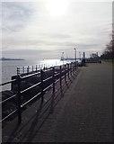 SJ3290 : Promenade at Seacombe by Richard Hoare