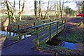 SO8475 : Footbridge in Spennells Valley Nature Reserve, Kidderminster by P L Chadwick