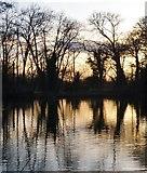 TQ0481 : Little Britain Lake at sunset (3) by Stefan Czapski