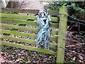NT5634 : Figure on a gate, Newstead by Jim Barton