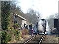 TL1597 : Locomotive letting off steam by Richard Humphrey