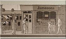 J3272 : Murals, Tate's Avenue bridge, Belfast (2) by Albert Bridge