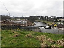 H4473 : New footbridge installation, Omagh by Kenneth  Allen