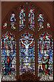 TL9059 : St George, Bradfield St George - Stained glass window by John Salmon
