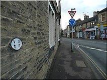 SE1321 : Old water main valve plate, Ogden Lane by Humphrey Bolton