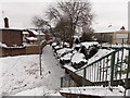 ST3091 : An icy footpath through Claremont, Malpas, Newport by Jaggery