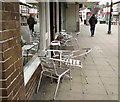 SJ9594 : Café chairs by Gerald England