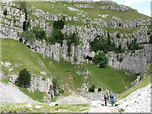 SD9163 : Footpath approaching Gordale Scar by Dave Spicer