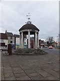 SK5993 : Tickhill's Market Cross and pump by Richard Hoare