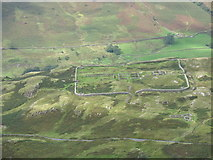 NY2101 : Hardknott Castle seen from Horsehow Crags by David Purchase