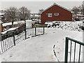ST3091 : Snowy NW corner of Pilton Vale, Malpas, Newport by Jaggery