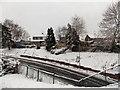 ST3091 : A snowy bank in Pilton Vale, Malpas, Newport by Jaggery
