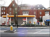 TQ2977 : Shell filling station, Grosvenor Road by Alex McGregor