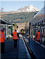 NN3825 : Train from Mallaig entering Crianlarich by The Carlisle Kid