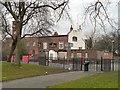 SJ8597 : Church Inn at Ardwick Green by Gerald England